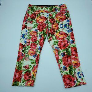 LuLaRoe Jade Athletic Leggings S Floral Capri